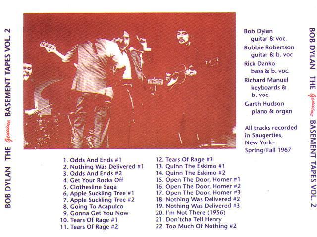 Bob Dylan / The Genuine Basement Tapes Volume 2 / 1CD